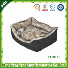 Luxury dog sofa bed & faux fur pet product & Soft pet product dog sofa