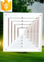 Square And Rectangular ABS pvc Plastic Air Diffuser/Grille
