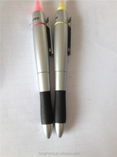 Factory price function normal two head highlighter marker pen +ball pen logo customized CH-6284