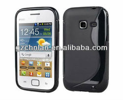 High quality s line soft rubber case for samsung galaxy ace duos s6802 cover