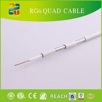 rg6 tri shield coaxial cable ,RG6 Quad shield CE,ROHS,REACH ,ETL