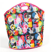 Wholesale 2015 new design reusable shopping bag,600D Polyester bag,unique reusable shopping bags