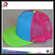 accept design flat bill 5 Panel dye sublimation blanks foam mesh trucker cap and hats