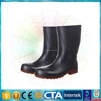 CE certification steel toe pvc safety boots tall safety shoes
