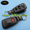 Best price 2+1 buttons car remote case for hyundai remote key case hyundai tucson keyless remote shell