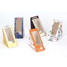cardboard triangle sandwich pack box