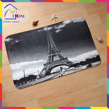 Hot sell Paris city printed padded floor mat