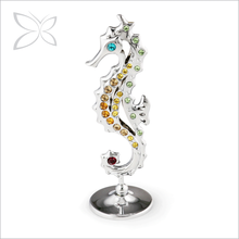 Special Price Trendy Sliver Plated Crystals Seahorse Decoration