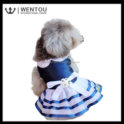Wholesale Navy style fashion dog Wedding Dress
