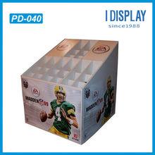 Advertising basketball corrugated cardboard pallet display rack for promotion