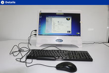 blanco de alta configuración de todo en una computadora de escritorio