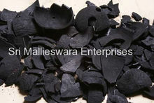 Raw coconut shell charcoal