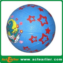 factory price small basketball rubber for kids