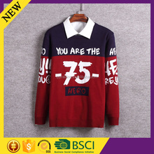 Designs of woolen fashion ugly sportsauto knitting machine manufacturer military sweater