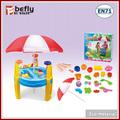 كبيرة من البلاستيك الجدول شاطئ الرمال اللعب اللعب مع المظلة