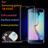 For Samsung Galaxy S6 Edge Curved Real Glass Crystal Screen Protector Full 3D Edge to Edge Screen Tempered Front Protective
