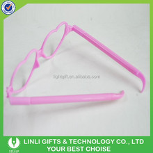 Pink Plastic Glasses-shaped Ball Pen