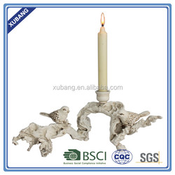 poly resin wholesale high quality Bird on twig candle holder