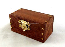Old Fashioned Wooden Trunk Linen Chest Toy Box