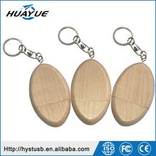 Portable 1GB 2GB 4GB 8GB 16GB 32GB Wood USB 2.0 Driver with Key Chain