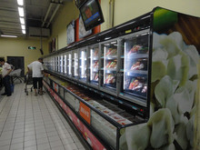 Freezer/refrigerator combined used supermarket refrigeration equipment