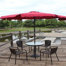 patio garden coffee shop along the street luxury leisure straight rod umbrella