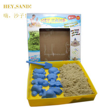 500g colored moving sand with 10 pcs tools Never Dries Out Moon Sand educational toys for kids children