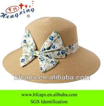 2013 fashion custom bowknot girls straw hats