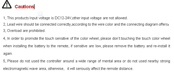 2.4G 3 Zone Touch Remote LED Color Temperature Controller
