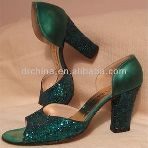 brillant de mode en cuir pour les chaussures à talons hauts