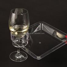 xiamen factory price acrylic hanging wine glass rack for red wine storage