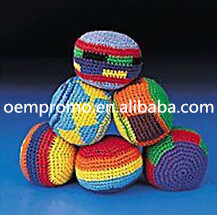 Promotional Kintted balls hacky sack, kintted footbag