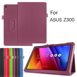 Hot selling PU Litchi pattern tablet protective leather case for Asus Zenpad 10 Z300C