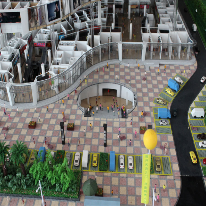 Customized 1:50 Commercial Shopping Mall Model,3d Modeling