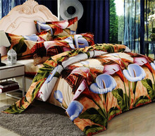 last design fashion 100% cotton 3d bedspread