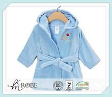 Cotton Terry Velour Baby Bathrobe With Hood