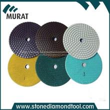 3 step resin diamond wet/dry polishing pads for stone