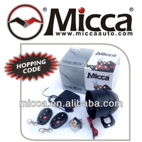 MICCA One Way Car Alarm Rolling Code with Internal Shock Sensor, Auto alarm Hopping Code, Alarma para Autos(OW009B)