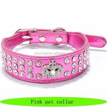 Royals dog collar, custom pink dog collars, custom pet collar