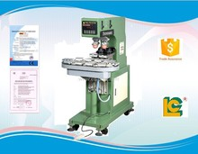 Hot sale and low price 2-color Shutte Sealed label, pen ,bluetooth , photo, pad printing machine with conveyer LC-SPM2-150/10T