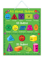 E1006 2015 new item kids learning educational magnetic shape chart