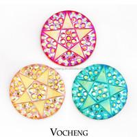 Wholesale 20PCS/Lot Vocheng 18mm Pentagram Acrylic Popper Jewelry 6 Colors Custom Snap Button (Vn-715*20) Free Shipping