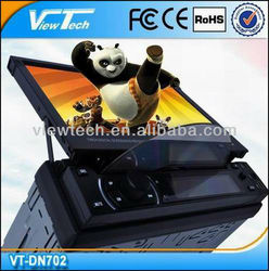 1 din 7 inch cheap in dash car dvd player with Detachable Touch Screen