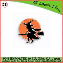 Custom quality holiday gift Halloween witch lapel pin