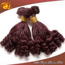 Wholesale pure brazilian bouncy curl human hair weaving, brazilian hair products