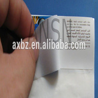Multi-page labels; booklet labels