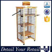 4 sided boots display stand board free standing