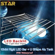 Outdoor large Illuminated Advertising LED Lightbox Sign backlit 5730 Rigid LED Bar with Aluminum tank LED Backlight