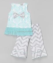 Alta calidad de moda niños niñas Boutique establece mayor precio barato venta al por mayor ropa de niños 2015 Z-CS80724-40