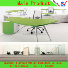 2015Modern design office partitions/ powder coating on MDF/ zero formaldehy Modern Office furniture FL-OF-0030